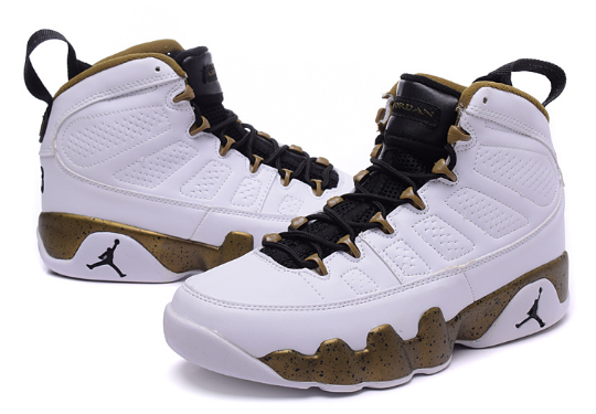 Air Jordan 9 Militia Green Copper Statue Shoes