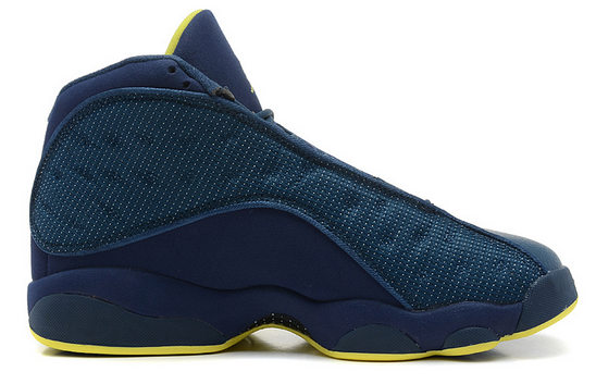 Air Jordans 13 Retro Squadron Blue Electric Yellow-Black Shoes