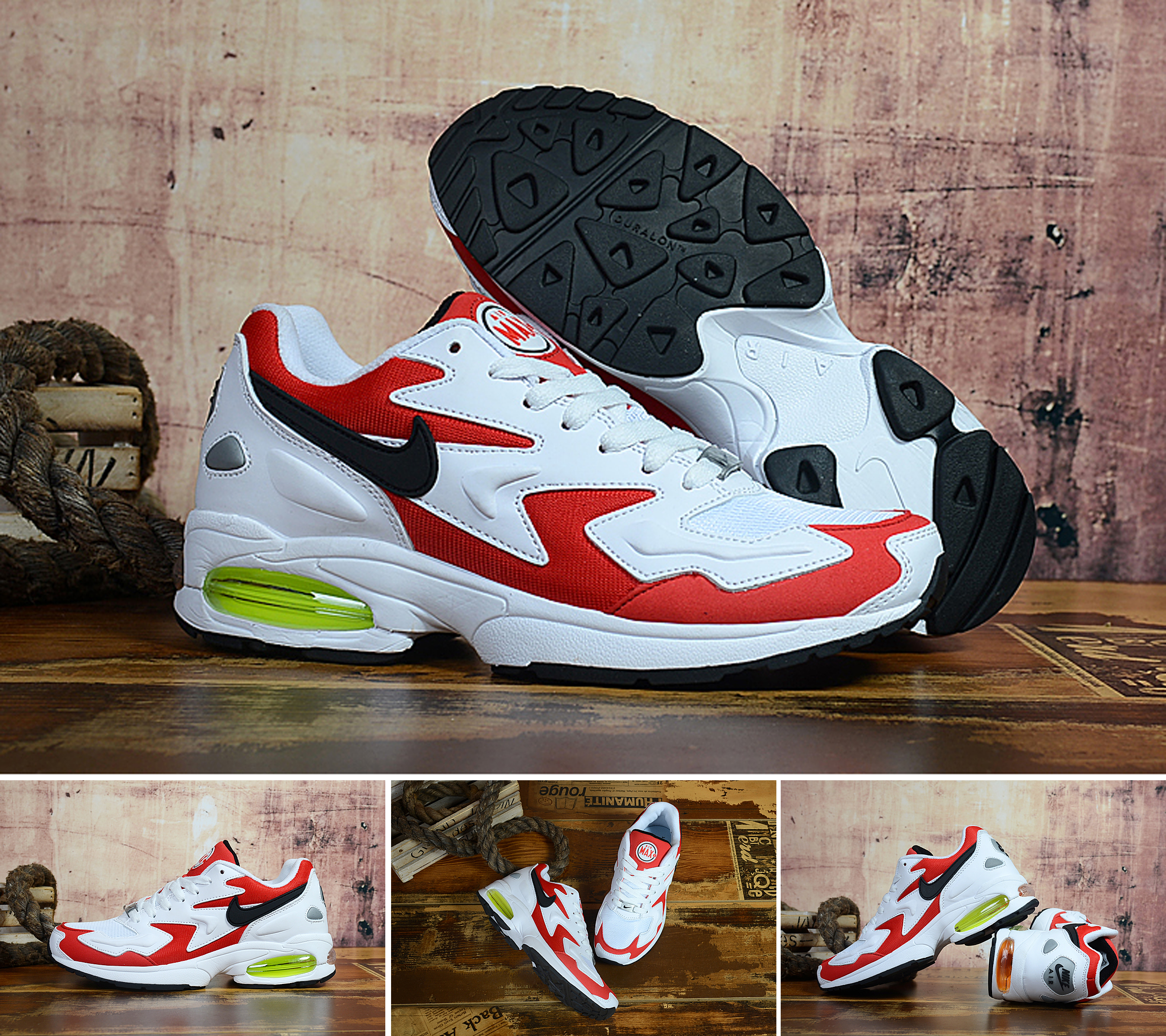 Air Max2 Light Red White Black Shoes