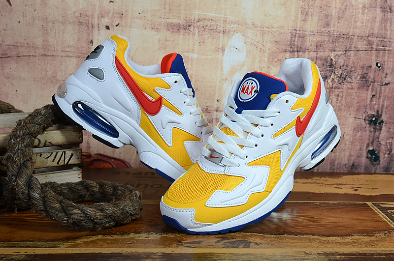 Air Max2 Light Yellow White Blue Shoes
