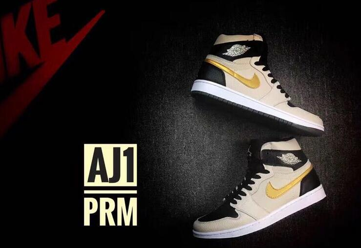 on sale d3299 c3e42 Air Jordan 1 High PRM Pearl White Metallic Gold