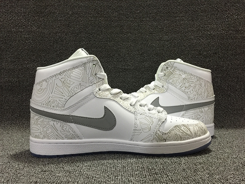 Air Jordan 1 Mid HareWhite Grey Red Lover Shoes