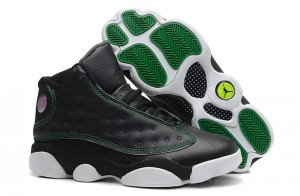 Air Jordan 13 Retro Black White Green