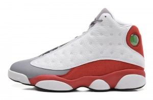 Air Jordan 13 Retro Grey Toe White Black True Red Cement Grey