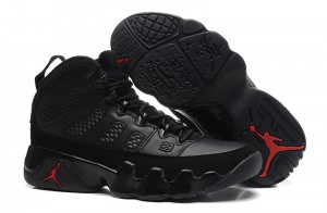Air Jordan 9 Retro GS Black Dark Charcoal Varsity Red