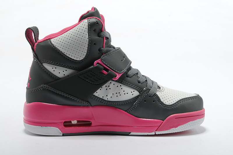 the best attitude 42e8c cf9f9 Air Jordan Flight 45 Womens High Dark Gray Pink White