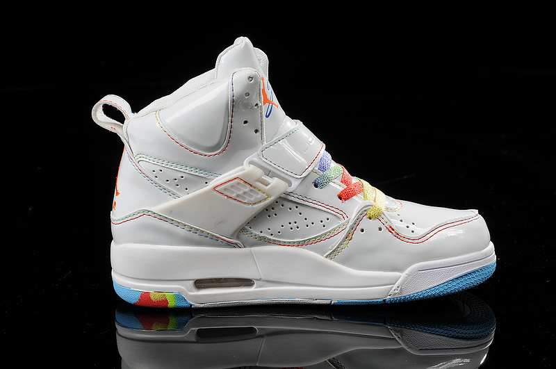 release date: 4d3b1 b700a Air Jordan Flight 45 Womens High Rainbow White