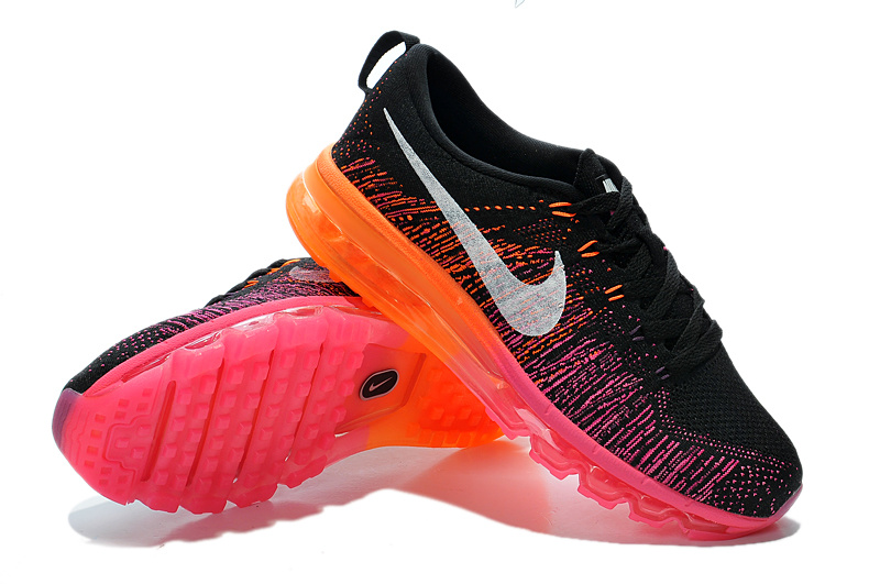 Nike Air Max 2014 Flyknit Black Red Orange Shoes