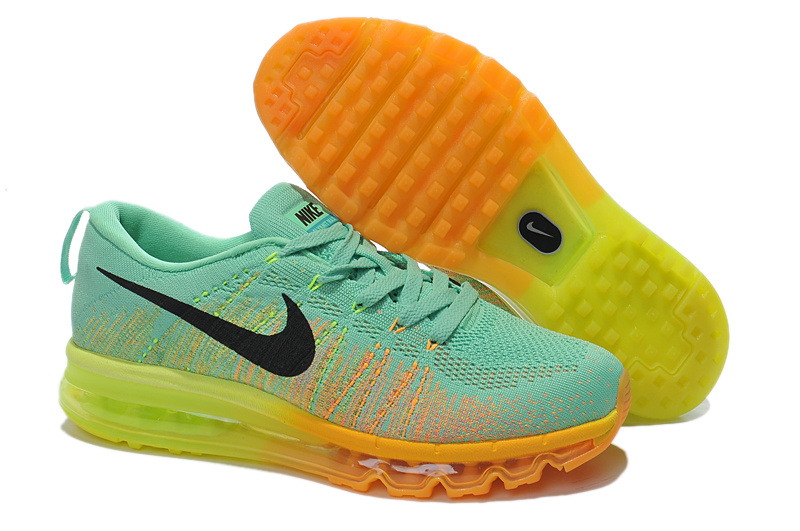 Nike Air Max 2014 Flyknit Green Yellow Shoes