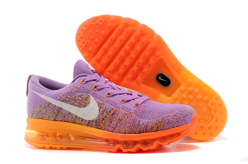 Nike Air Max 2014 Flyknit Purple Orange Shoes
