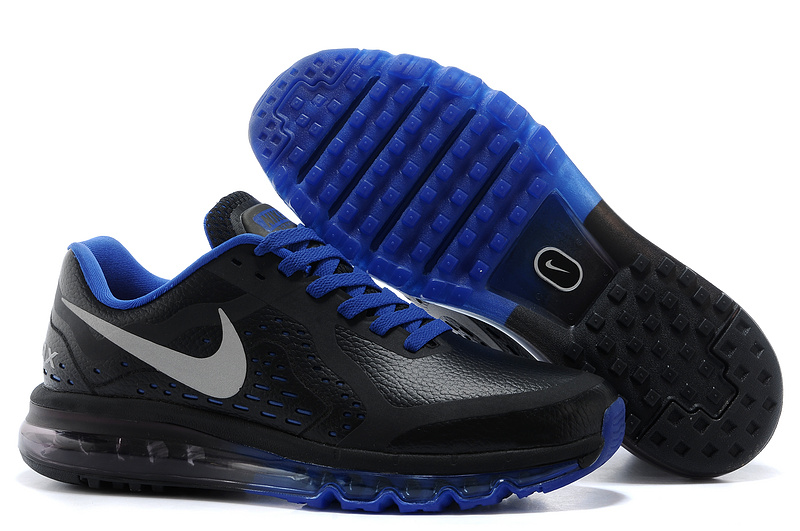 Nike Air Max 2014 Leather Black Blue Shoes