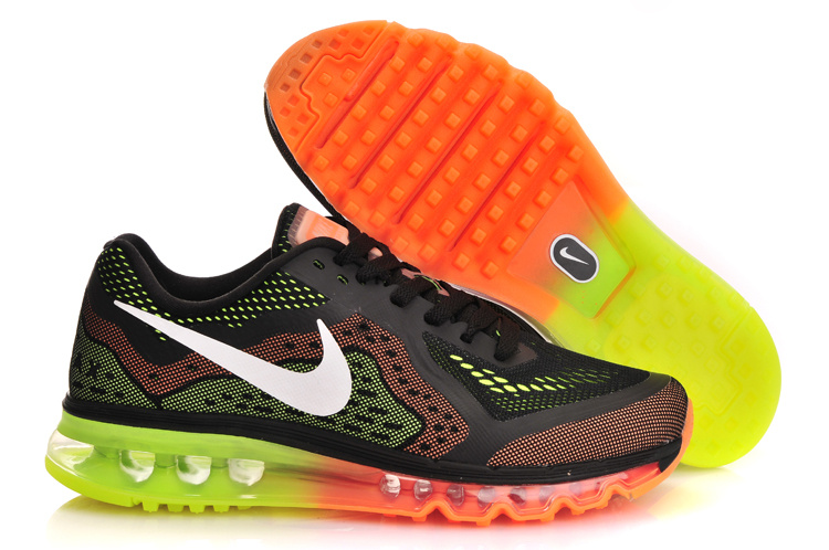 Nike Air Max 2014 Black Orange Green Shoes
