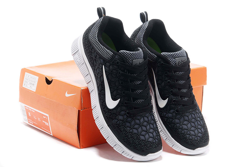 cheaper e34f6 cb10e Women Nike Free 6.0 Black White Running Shoes