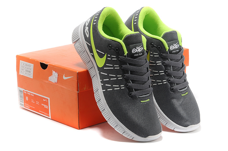 Breathable Nike Free 60 V2 Grey Green Shoes
