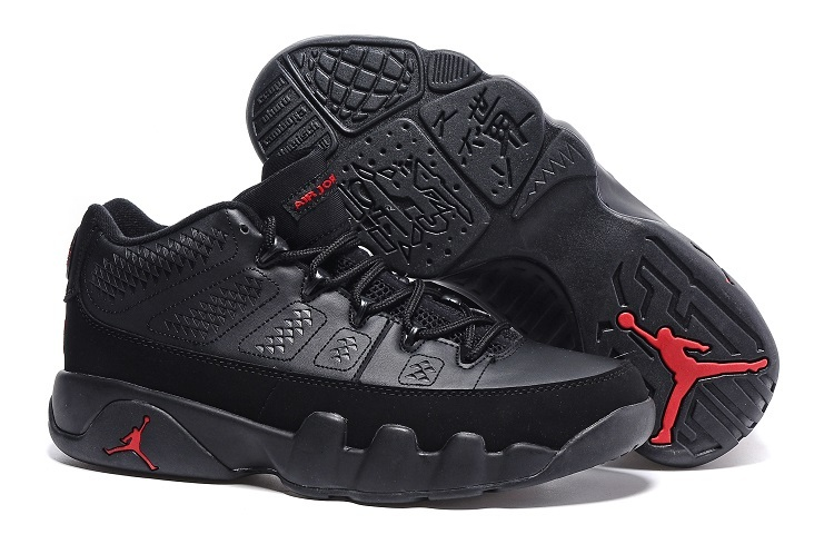 Cheap Nike Air Jordan 9 Retro Low Black Varsity Red for sale