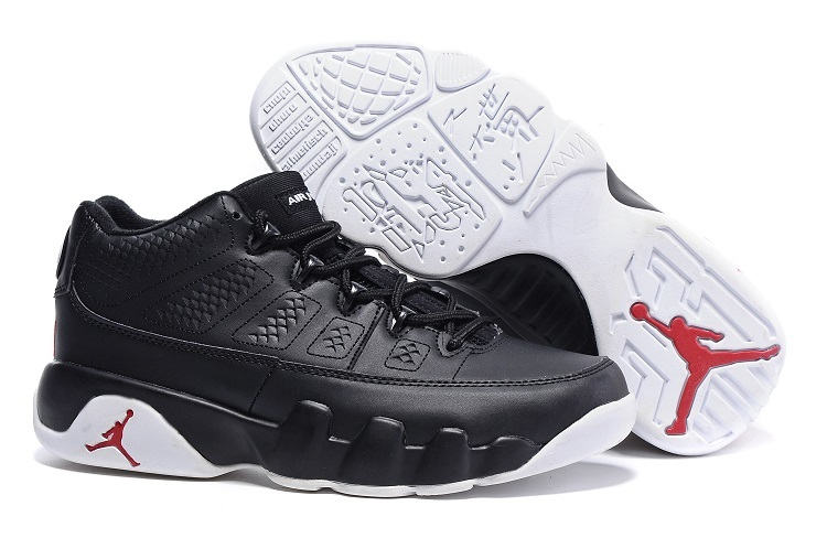 Cheap Nike Air Jordan 9 Retro Low Chicago Black White Gym Red For Sale