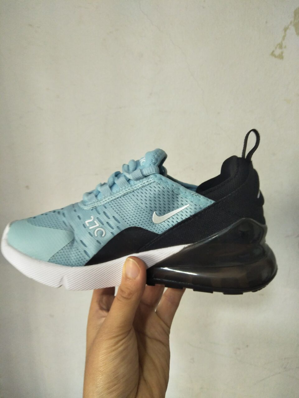 Kids Nike Air Max 270 Jade Blue Black Shoes