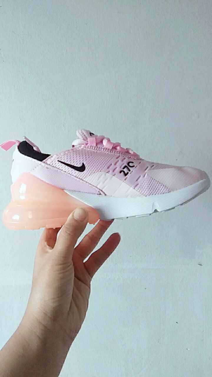Kids Nike Air Max 270 Pink Black Shoes