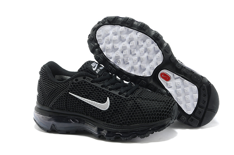 Nike Air Max 2009 All Black Shoes For Kids