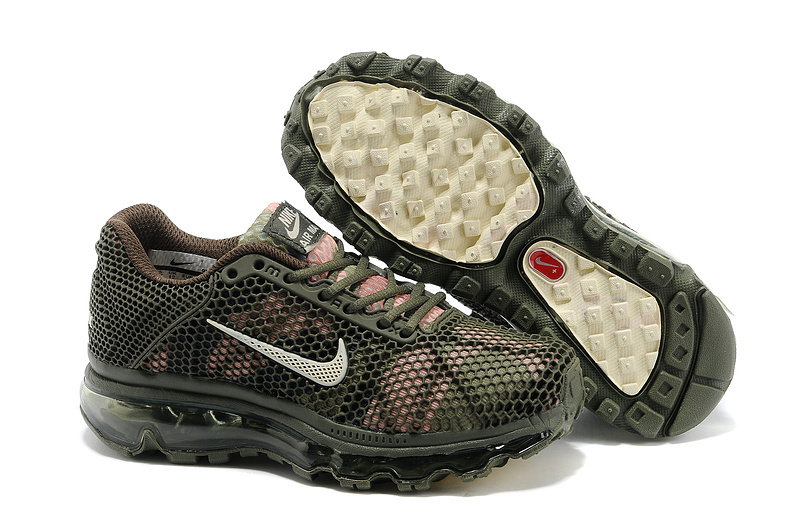 Nike Air Max 2009 Army Green Shoes For Kids