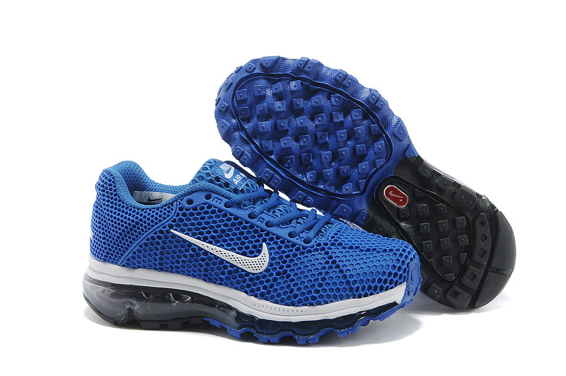Nike Air Max 2009 Blue White Shoes For Kids