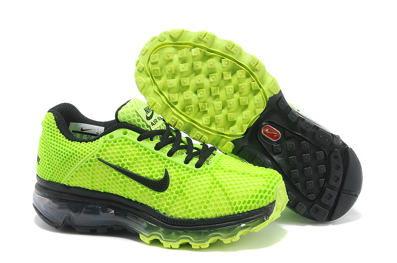 Nike Air Max 2009 Green Black Shoes For Kids
