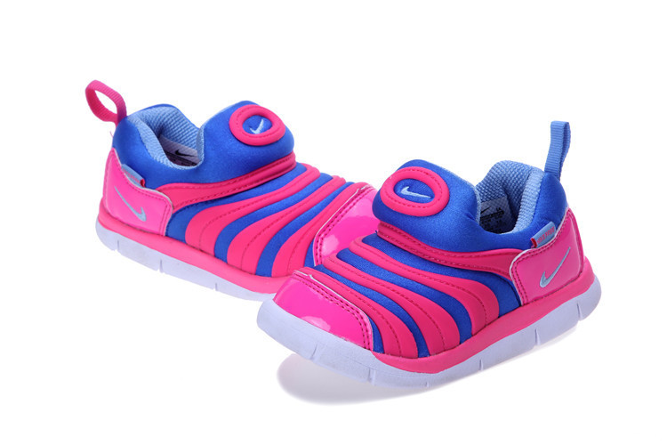 Kids Nike Dynamo Free Blue Pink White Shoes