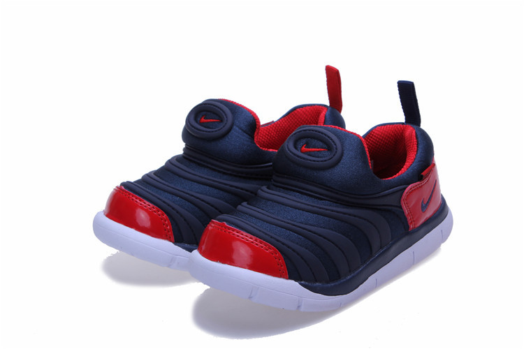 Kids Nike Dynamo Free Dark Blue Red White Shoes