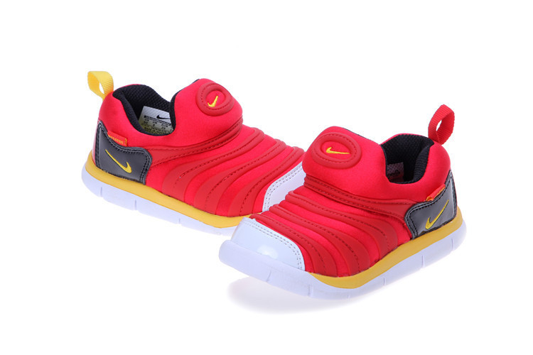 Kids Nike Dynamo Free Red Black Yellow White Shoes