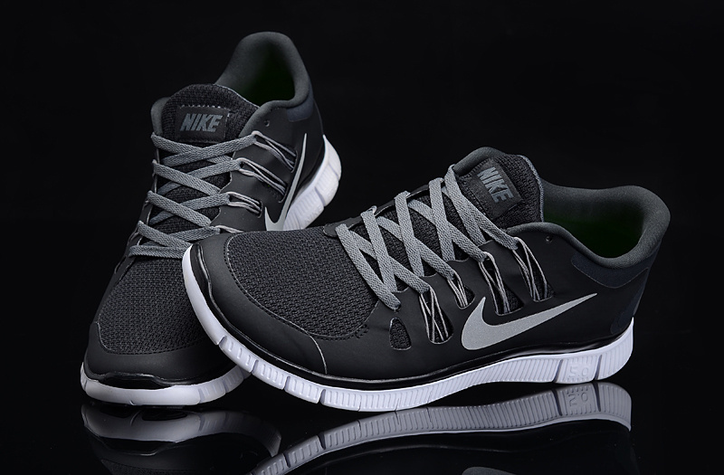 New Nike Free 5.0 Black White Running Shoes