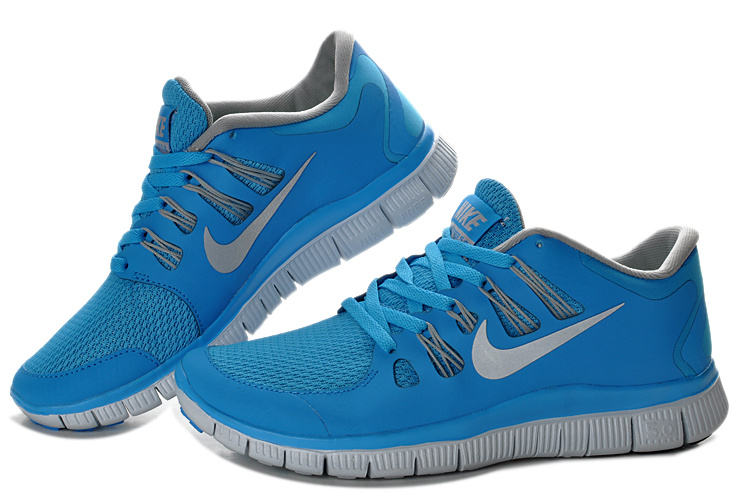 New Nike Free 5.0 Blue Grey Running Shoes