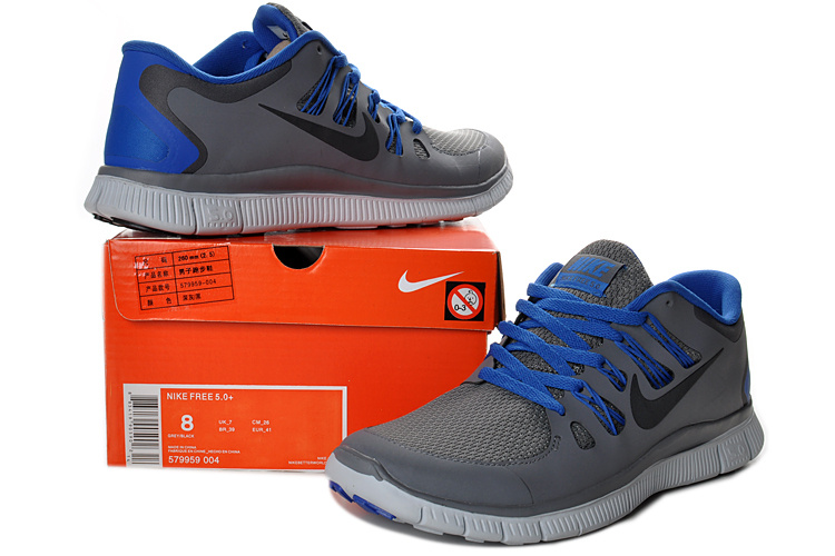 New Nike Free 5.0 Grey Blue Running Shoes