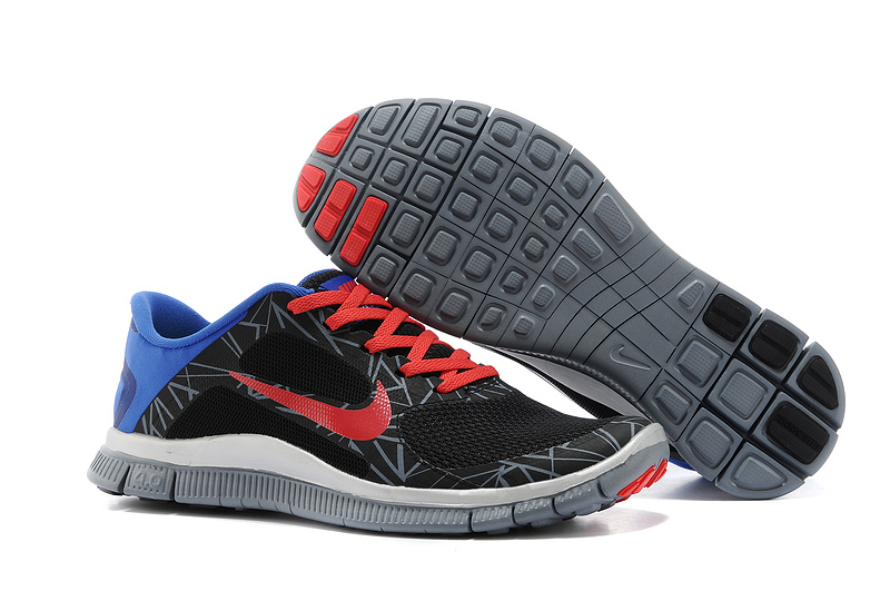 wholesale dealer c612e dd61a Limited Nike 4.0 V3 Colorful Black Red Blue Running Shoes