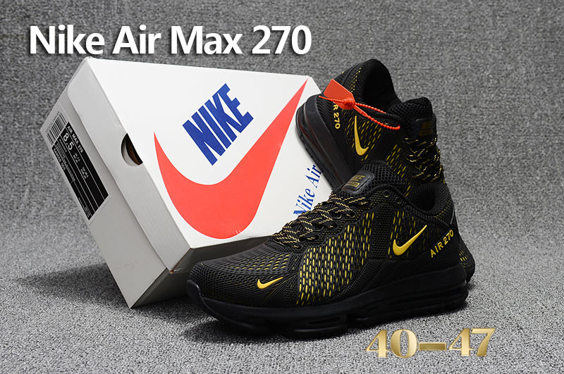 Men 2017 Nike Air Max Flair Black Yellow Shoes