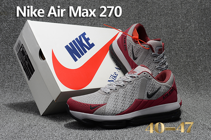Men 2017 Nike Air Max Flair Grey Red Black Shoes