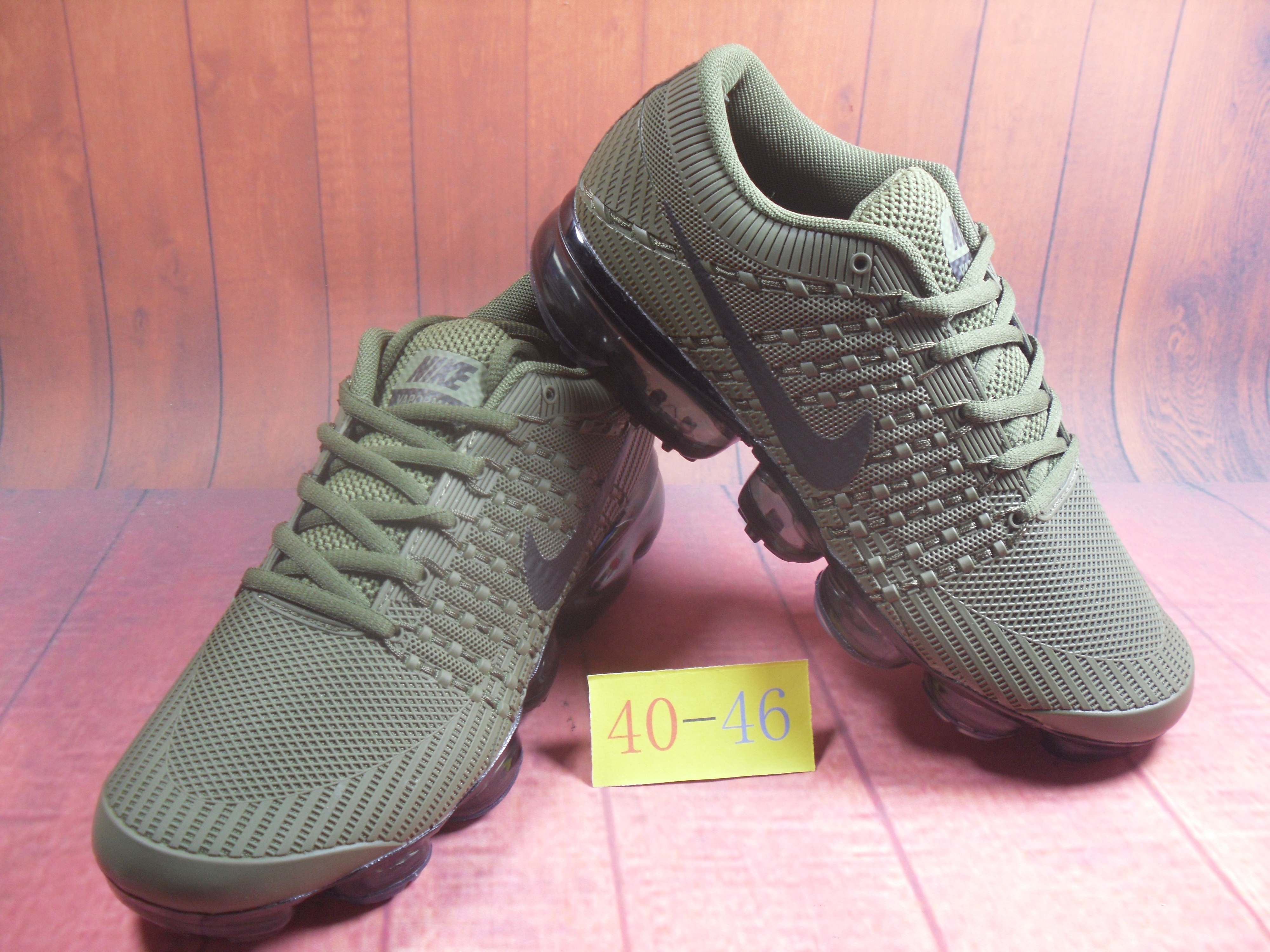 Men 2018 Nike Air VaporMax Flyknit KPU Army Green Black