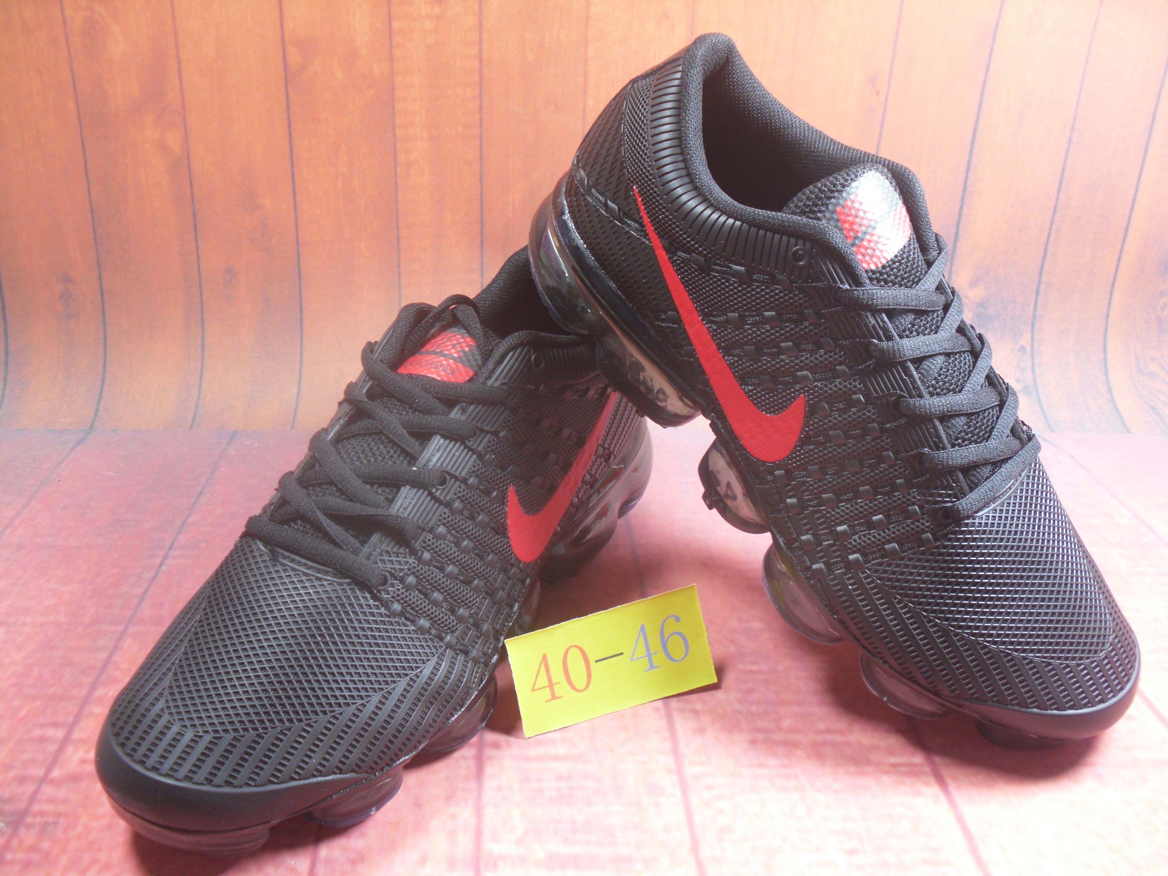 Men 2018 Nike Air VaporMax Flyknit KPU Black Red