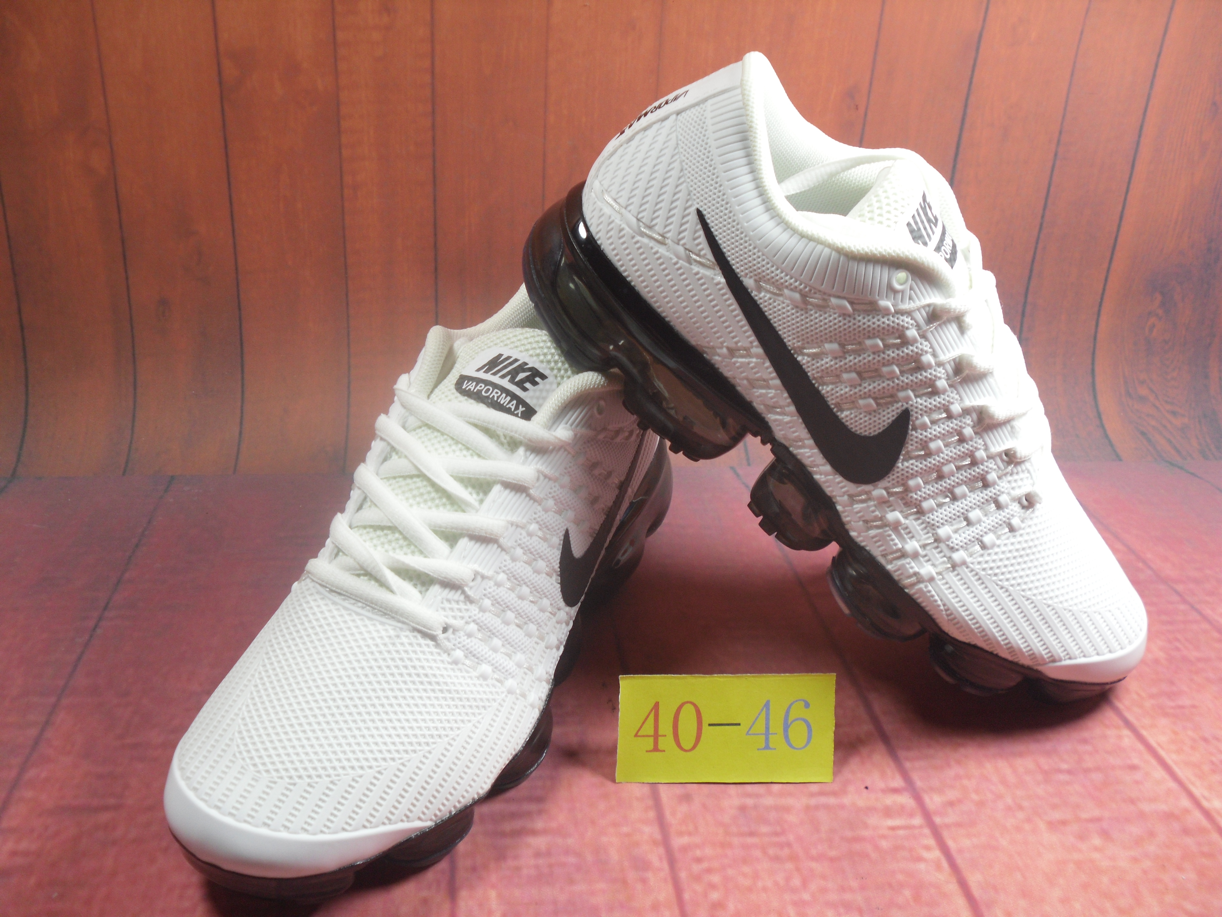 Men 2018 Nike Air VaporMax Flyknit KPU White Black