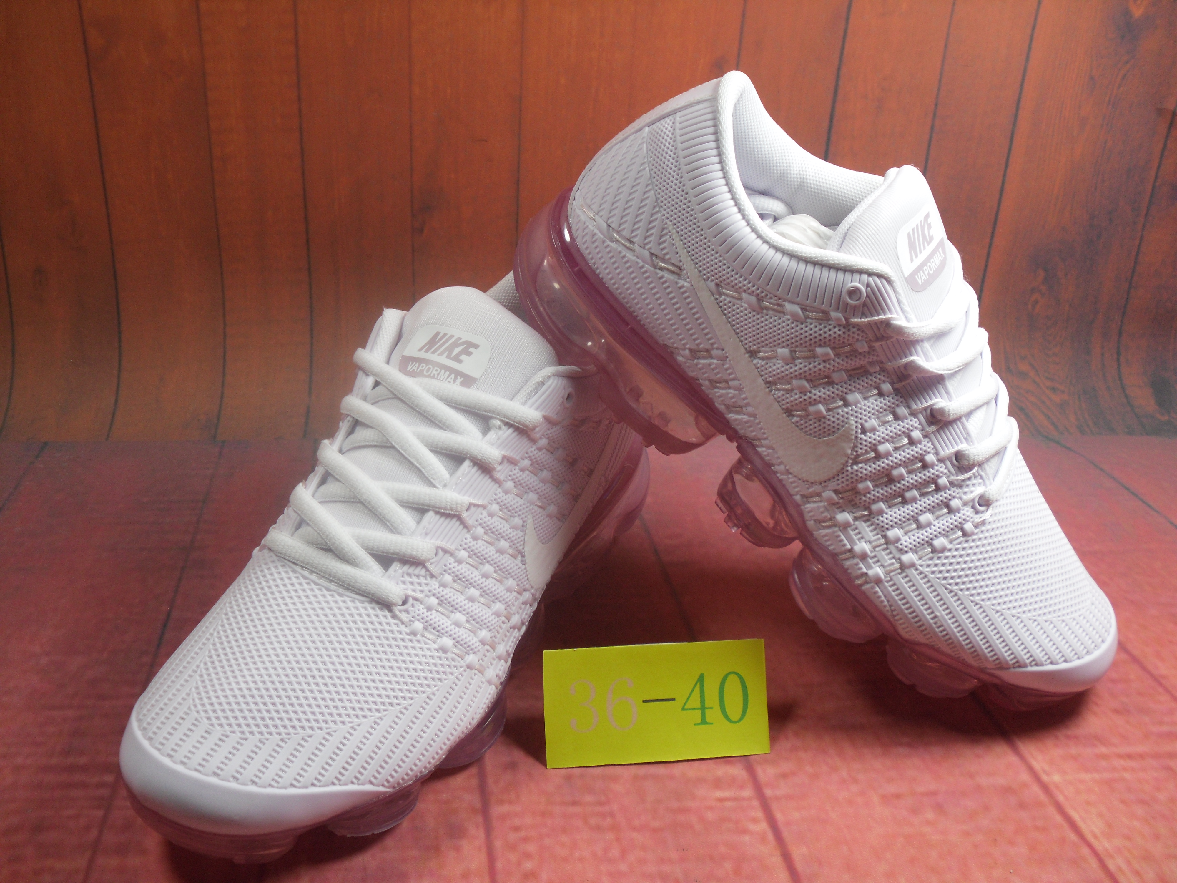 Men 2018 Nike Air VaporMax Flyknit KPU White Pink