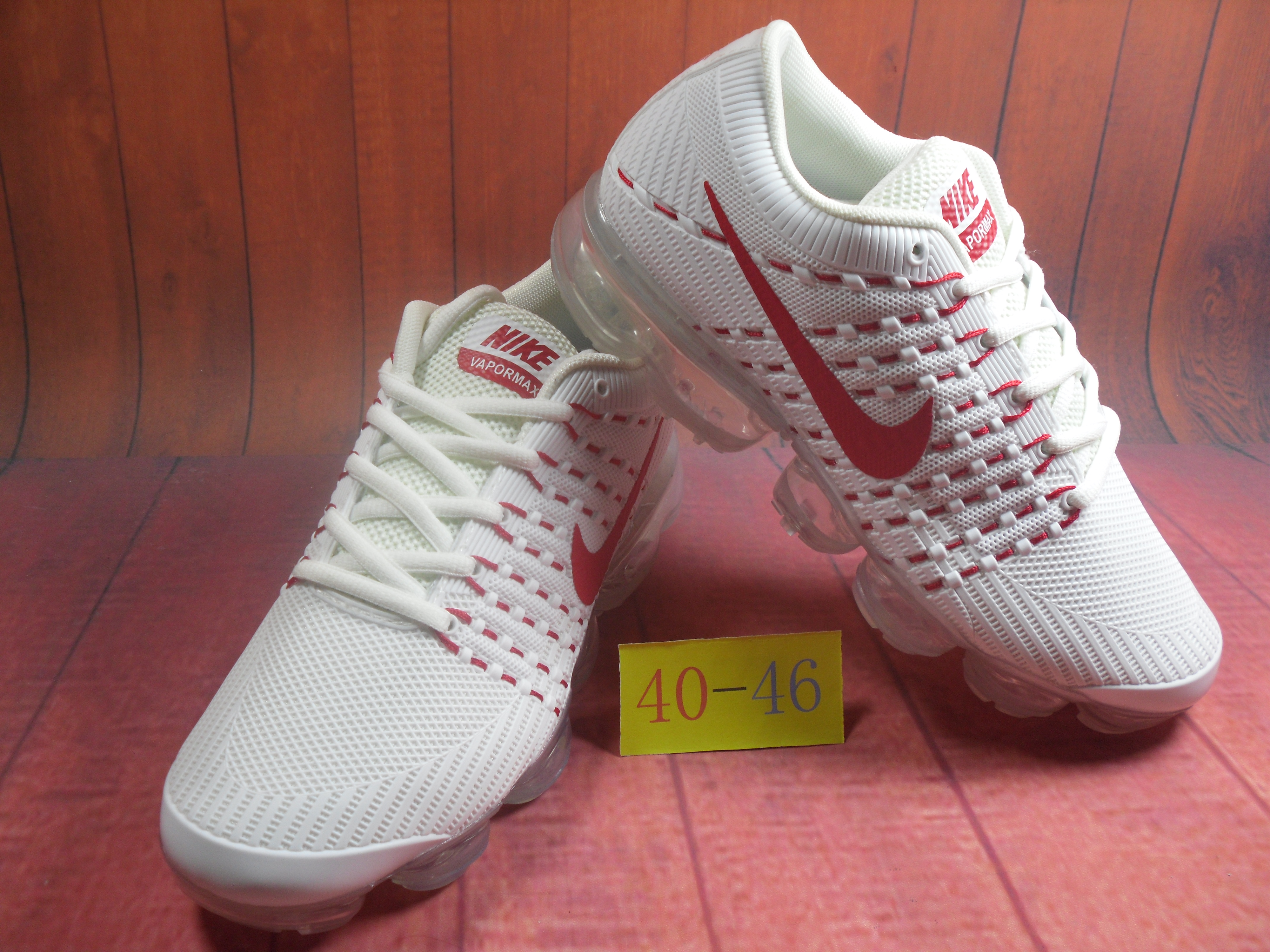 Men 2018 Nike Air VaporMax Flyknit KPU White Red