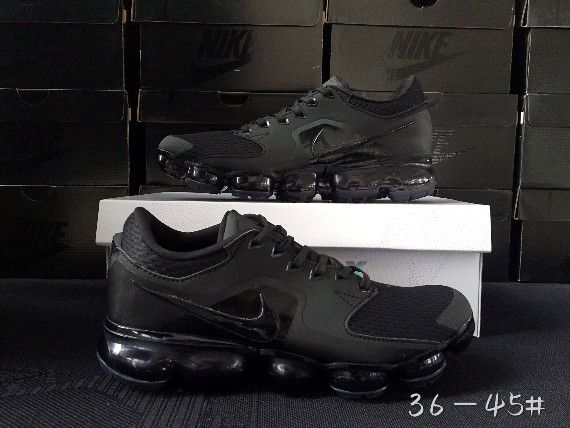 Men 2018 Nike Air Vapormax CS All Black Shoes