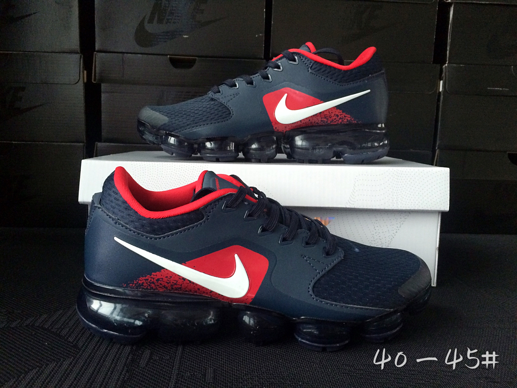 Men 2018 Nike Air Vapormax CS Blue Red White Shoes