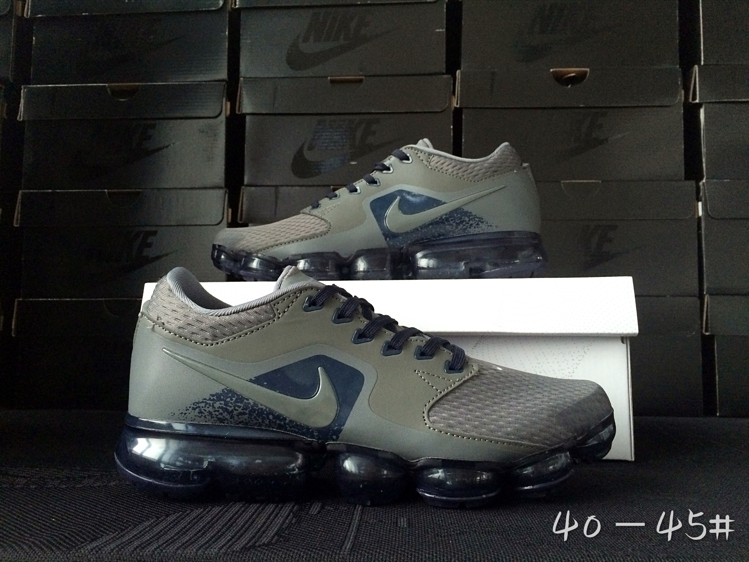 Men 2018 Nike Air Vapormax CS Grey Blue Shoes