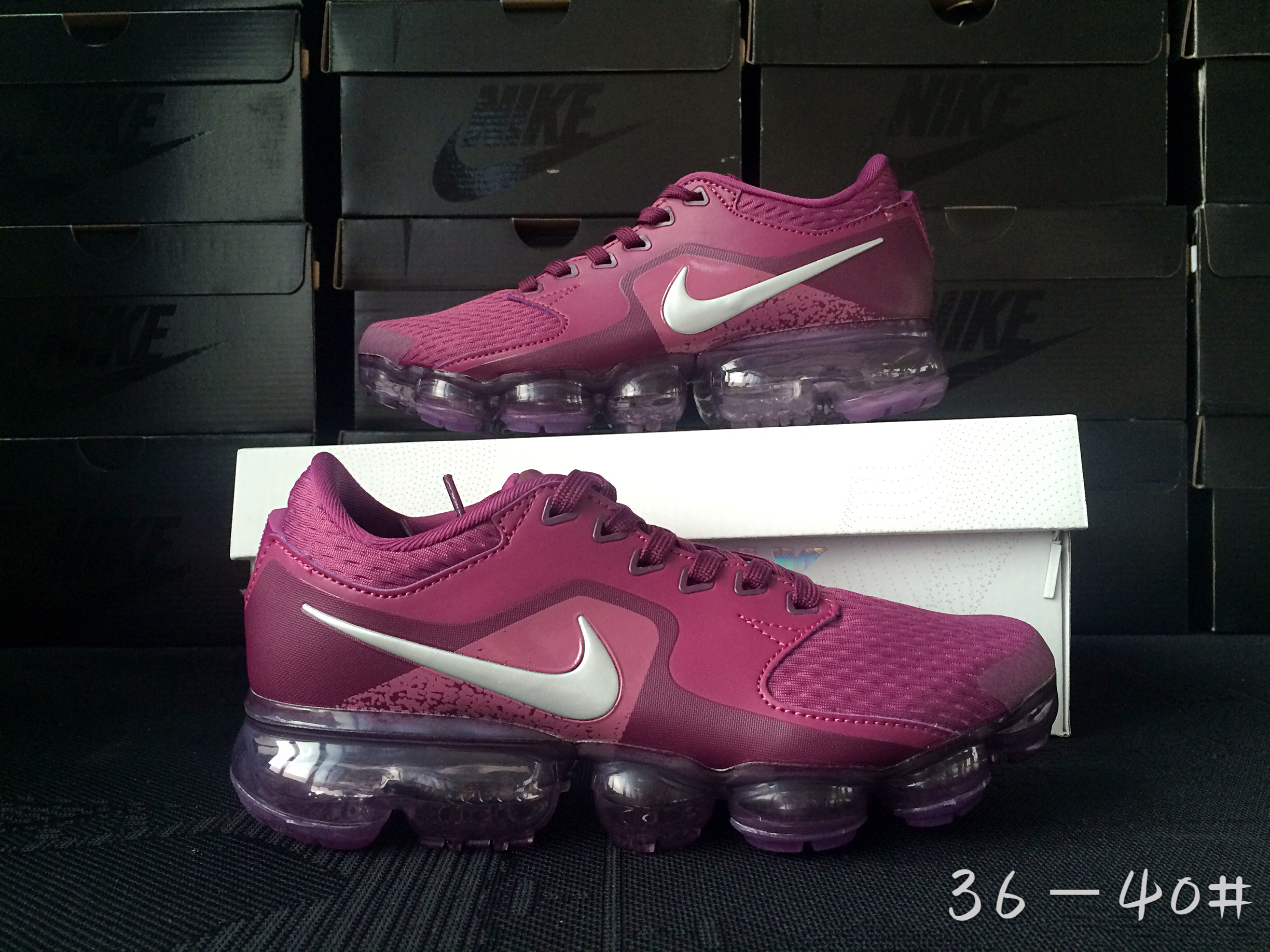 Men 2018 Nike Air Vapormax CS Wine Red Shoes