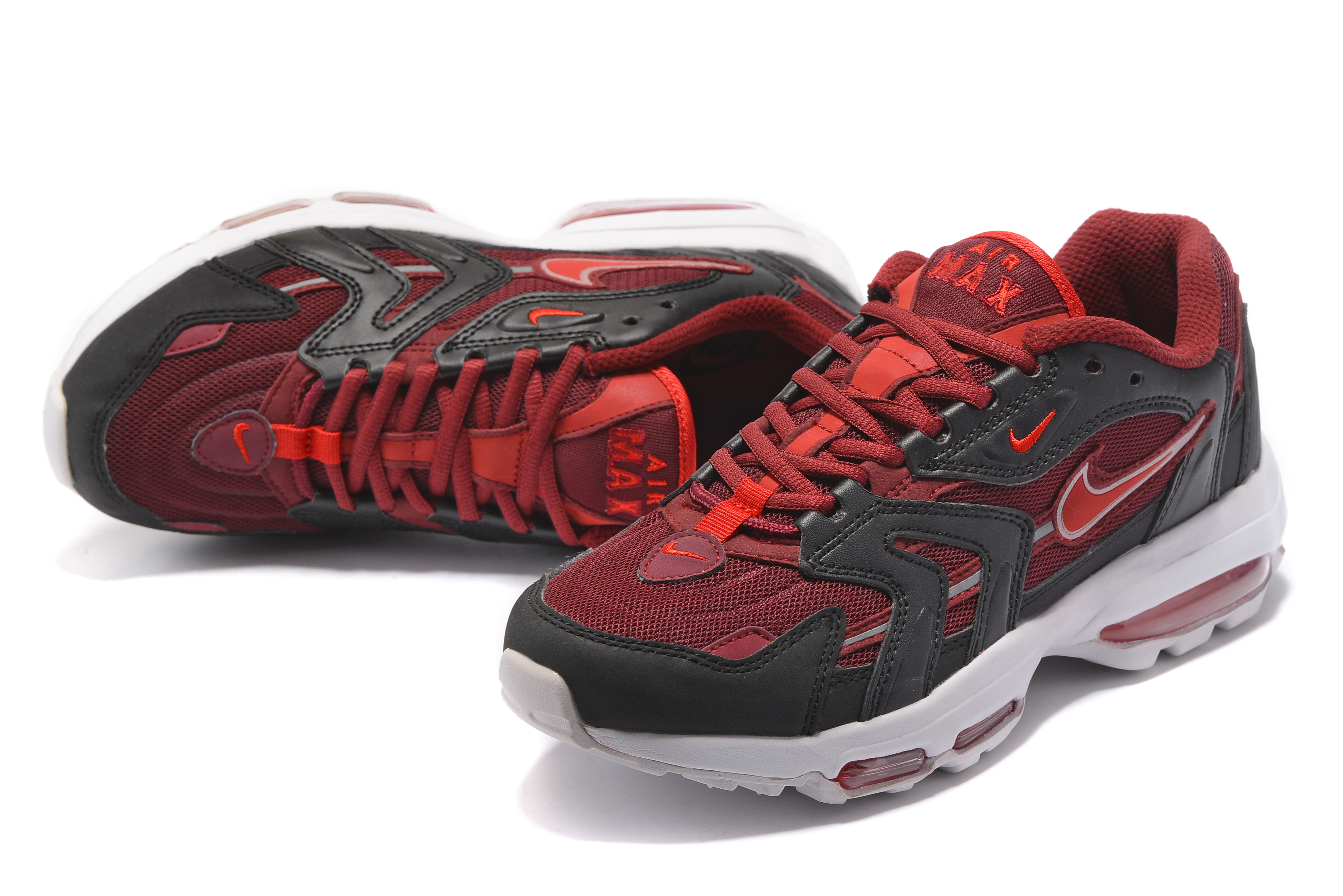 Men Nike Air Max 96 Wine Red Black Shoes