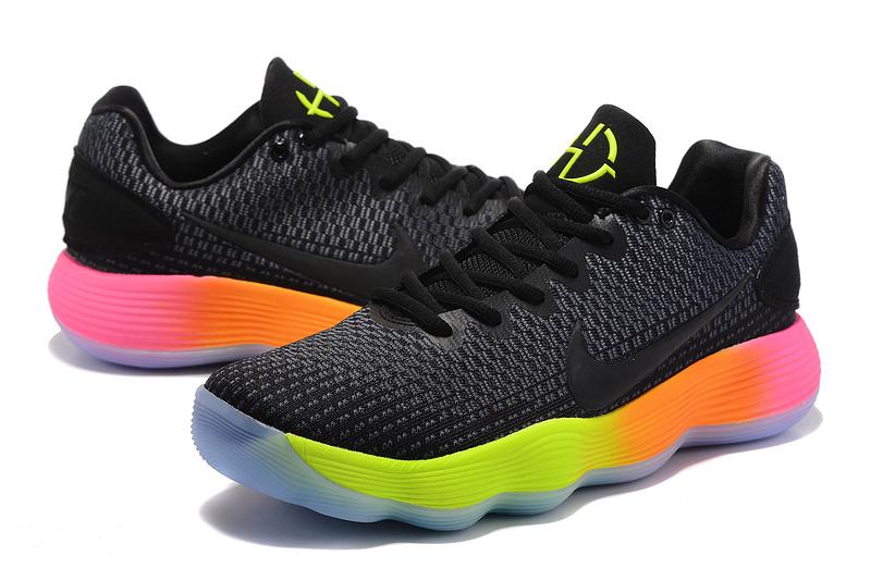 new styles c7e09 48ea0 ... new zealand men nike hyperdunk 2017 ep low black fluorscent orange basketball  shoes 506af bed09