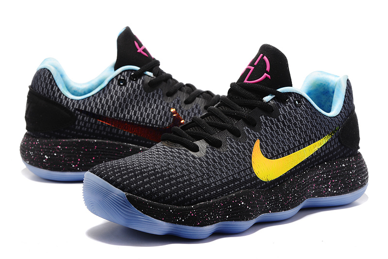 Men Nike Hyperdunk 2017 EP Low Black Yellow Pink Basketball Shoes
