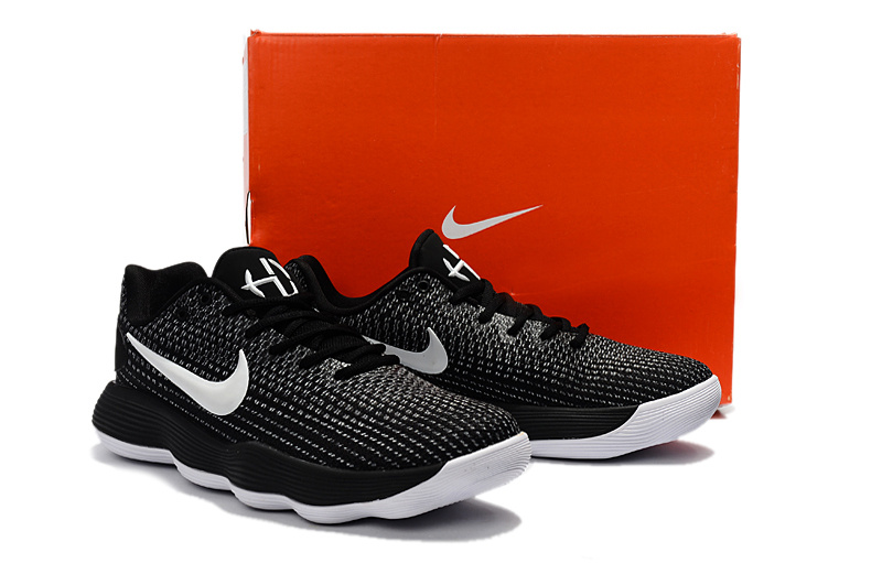 Men Nike Hyperdunk 2017 Low Black White Basketball Shoes