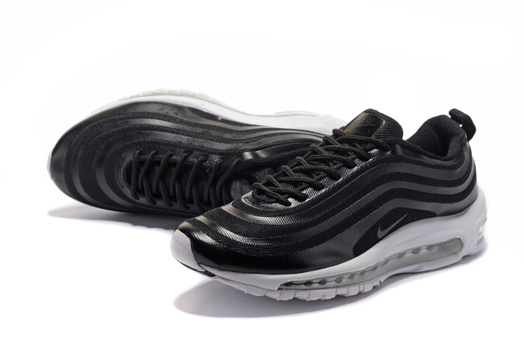 Men 2017 Nike Air Max 97 Black White Shoes