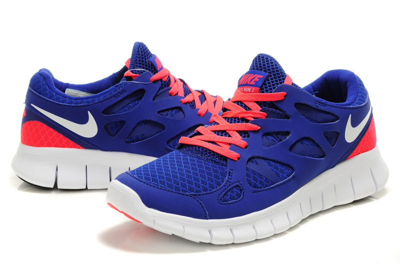Nike Free 2.0 Blue Pink White Shoes